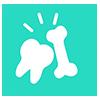 Des dents et des os solides