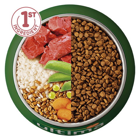 Beef, rice, wholegrain cereals and vegetables