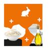 Con coniglio-riso-olio