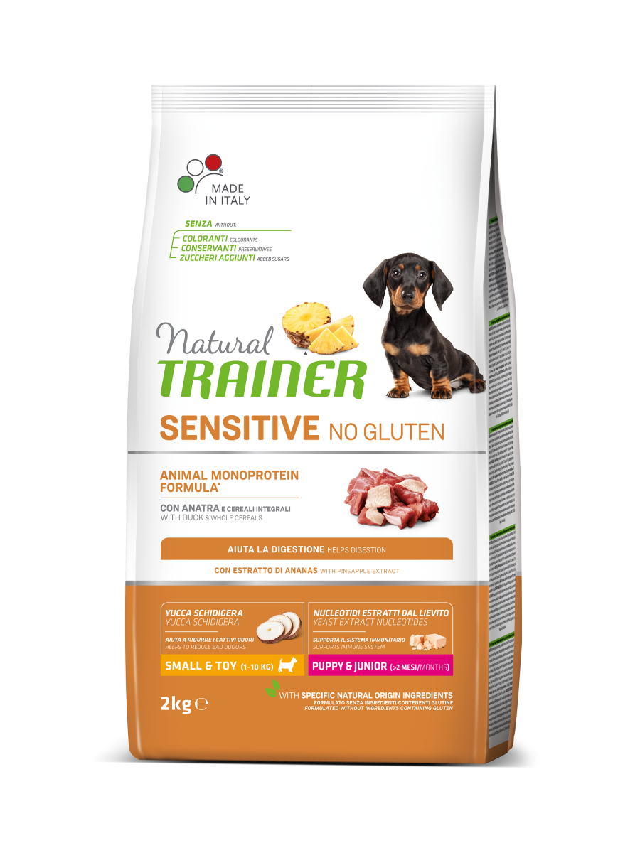 Sensitive No Gluten Mini Puppy&Junior con Anatra