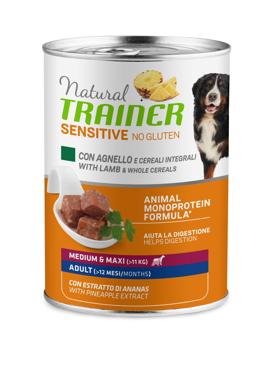 Sensitive No Gluten Medium&Maxi Adult with lamb and whole cereals