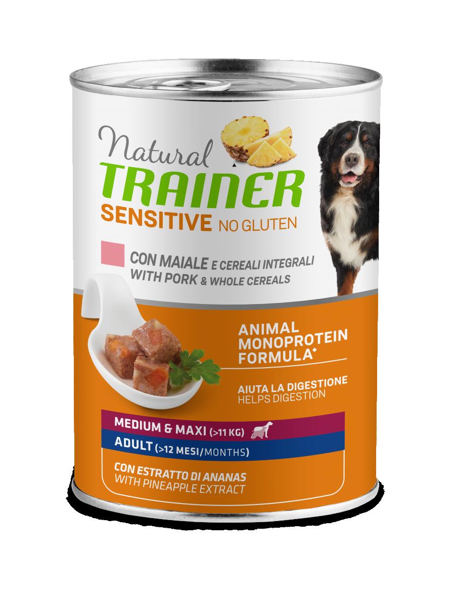 Sensitive No Gluten Medium&Maxi Adult with pork and whole cereals