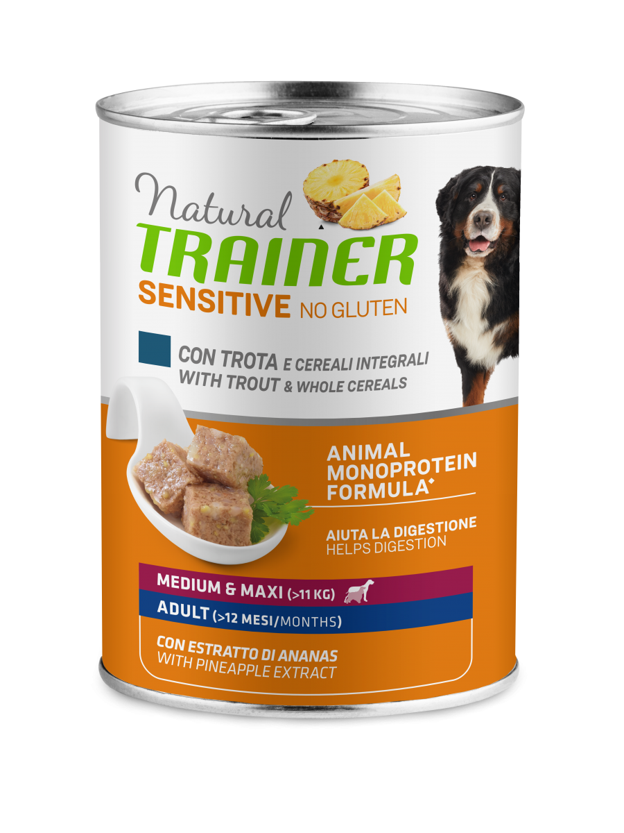 Sensitive No Gluten Medium&Maxi Adult with trout and whole cereals