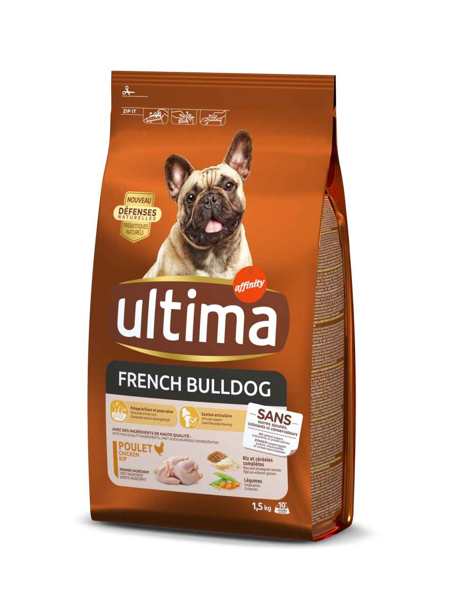 Ultima Mini French Bulldog Chicken Dry Food For Dogs Ultima
