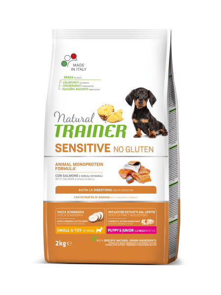 Sensitive No Gluten Mini Puppy&Junior Salmon