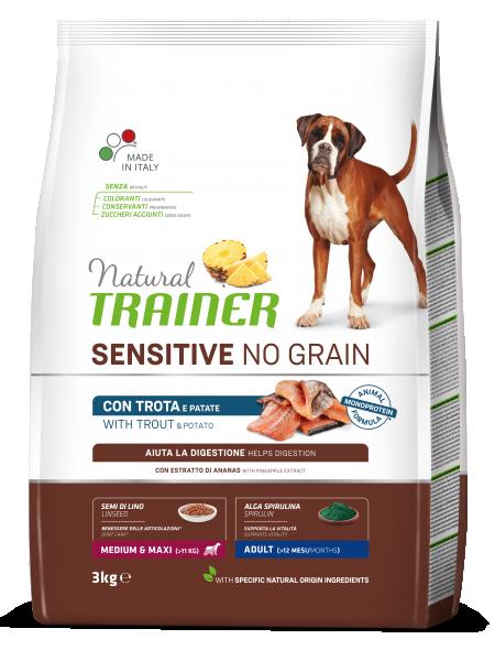 Sensitive No Grain Medium&Maxi Adult with Trout and Potatoes