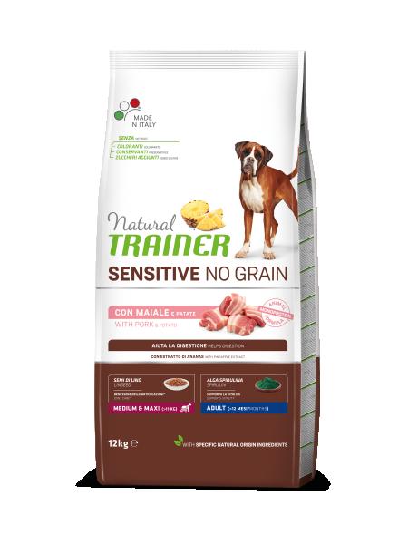 Sensitive No Grain Medium&Maxi Adult with Pork and Potatoes