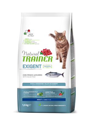 Natural Cat Exigent Adult with Blue Fish